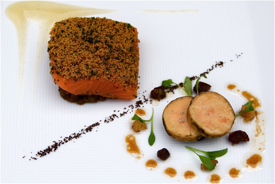 Organic Salmon Mi Cuit Spiced Lentils Foie Gras Recipe By Two Michelin Star Chef John Campbell Food Photography Madalene Bonvini Hamel Food Fanatic And Chef From The British Larder The British Larder
