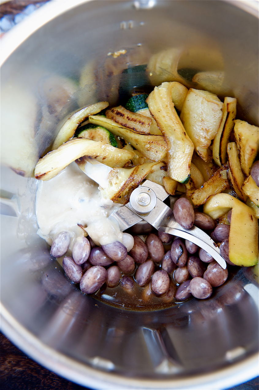 photo of Borlotti Bean and Courgette Hummus