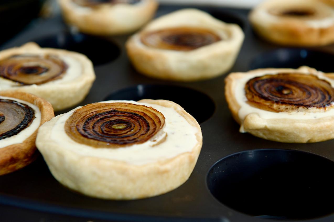 photo pf White Onion and Pecorino Tarts