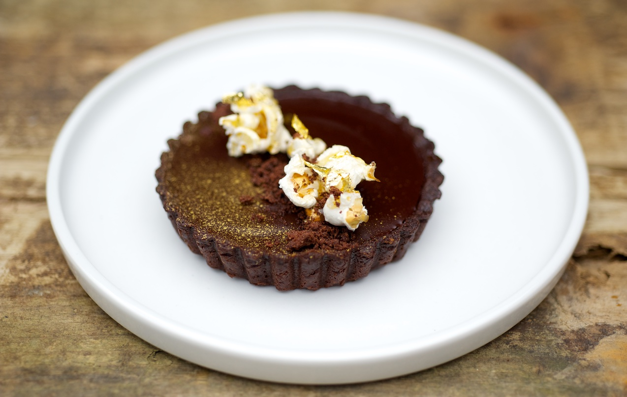 photo of Chocolate and salted caramel popcorn tarts